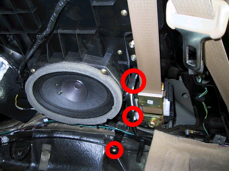How To Remove Rear Seats Panels Club3g Forum