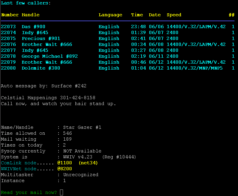 Porting WWIV 4 23 to FreeBSD UNIX